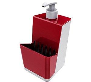 Dispensador Para Detergente Líquido Dispenser Branco - Crippa - Vermelho