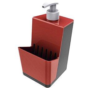 Dispensador para Detergente líquido Dispenser Chumbo - Crippa - Vermelho
