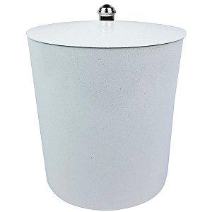 Lixeira 5Litros Multiuso Para Banheiro Cozinha Com tampa Cesto Lixo Plástica - AMZ - Mármore