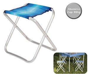Banqueta Alumínio Banquinho Dobrável Praia Camping Jardim Pesca - 2120 Mor