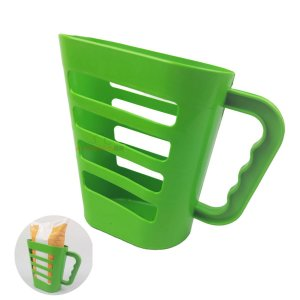 Suporte Organiza Porta Leite Iogurte Saquinho 1Litro Plástico Cozinha Verde - AMZ