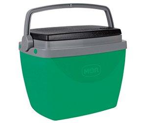 Caixa Térmica Cooler 6L Com Alça Porta Copos Bebidas Alimentos - Mor - Verde