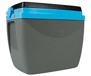 Caixa Térmica Cooler 6L Com Alça Porta Copos Bebidas Alimentos - Mor - Cinza