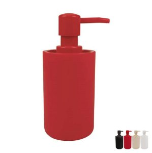 Suporte Porta Sabonete Líquido Dispenser Banheiro Pia - Mor - Vermelho
