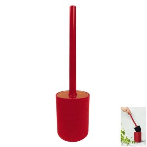 Porta Suporte Com Escova Sanitária Banheiro Privada Cores - Mor - Vermelho