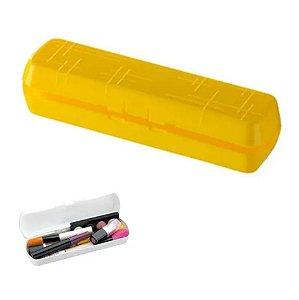 Estojo Multiuso Portátil Para Escova Pasta De Dente Escolar Maquiagem - 1900 Future - Amarelo