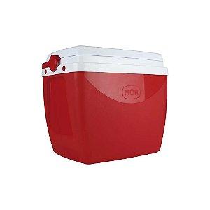 Caixa Térmica Cooler 18 Litros Bebidas Lanches Cerveja - Mor - Vermelho