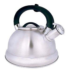 Chaleira Diletta Fundo Triplo De Aço Inox 3 Litros Chá Água - Mor - Preto