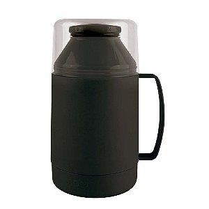 Garrafa Térmica Indie 500 Ml Pequena Com Alça Leite Café Chá - Mor - Preto