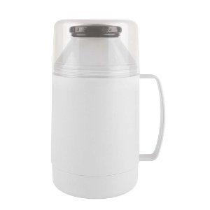 Garrafa Térmica Indie 500 Ml Pequena Com Alça Leite Café Chá - Mor - Branco