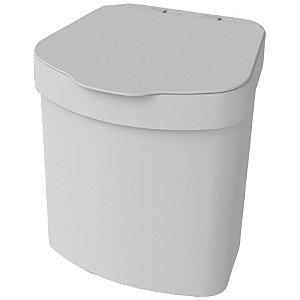Lixeira 2,5 L Porta Lixo Para Pia Bancada Cozinha Tampa - 1110 Future - Branco