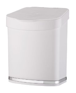 Lixeira 2,5 LitrosEleganza Pia Bancada Cozinha - 1258 Future - Branco