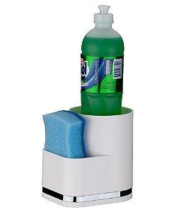 Organizador de Pia Porta Detergente e Esponja Eleganza - 1253 Future - Branco