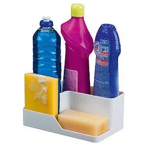 Organizador Pia Cozinha Porta Detergente Esponja 1070 - Future - Branco