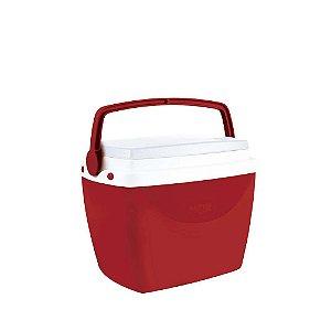 Caixa Térmica Cooler 6 Litros Bebidas Lanches Cerveja - Mor - Vermelho
