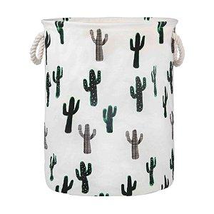 Cesto Organizador Infantil Animais Brinquedos Roupas 60l Saco Dobrável Tecido - Mor - Cactus
