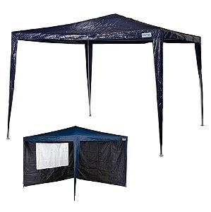 kit Tenda Gazebo Rafia Azul 3x3 m + Conjunto 2 Paredes Oxford - Mor