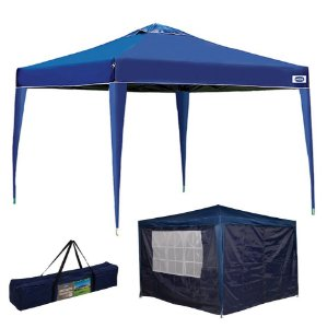 Kit Tenda Gazebo X-flex 3x3 m Articulado + Conjunto 4 Paredes Azul - Mor