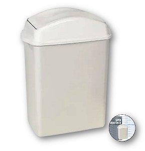 Lixeira 8,8 Litros Com Tampa Cesto De Lixo Basculante Plástica Cozinha Banheiro - 270 Sanremo - Branco