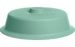 Tampa Para Microondas Protetor Comida Anti Respingos Plástico - TM 790 Ou - Verde Menta