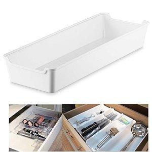 Organizador De Gaveta Plástico Multiuso Cozinha Armário Quarto - UZ387 Uz - Branco