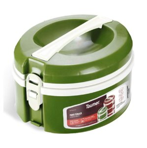 Prato Térmico Marmita Refeição Almoço Marmitex Comida - Taumer - Verde
