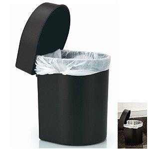 Lixeira 3,5 Litros Hide De Pia Cozinha Banheiro - LX 710 Ou - Preto