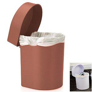 Lixeira 3,5 Litros Hide De Pia Cozinha Banheiro - LX 710 Ou - Terracota