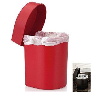 Lixeira 3,5 Litros Hide De Pia Cozinha Banheiro - LX 710 Ou - Vermelho