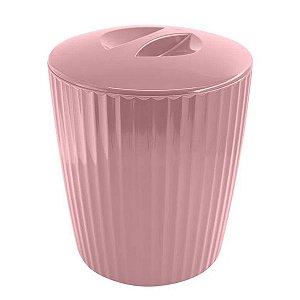 Lixeira 5 Litros Cesto De Lixo Groove Cozinha Banheiro - LX 715 Ou - Rosa