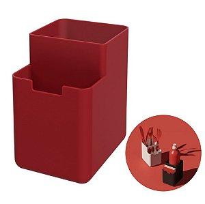 Organizador Pia Porta Detergente Esponja Escorredor Talheres Single - 17010 Coza - Vermelho
