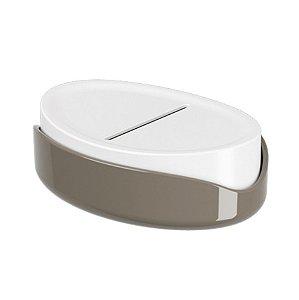 Porta Sabonete Em Barra Saboneteira Acessório Organizador Pia Banheiro - 10445 Coza - Marrom
