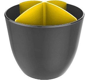 Escorredor de Talheres e Utensílios Chumbo - Crippa - Amarelo