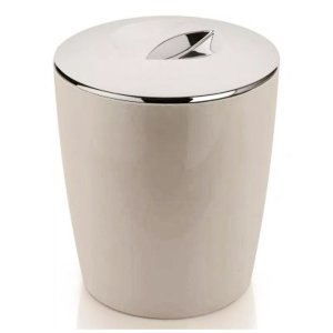 Lixeira 5 Litros Cromo Vitra Cesto De Lixo Banheiro Cozinha Lavabo - LX 550 Ou - Bege