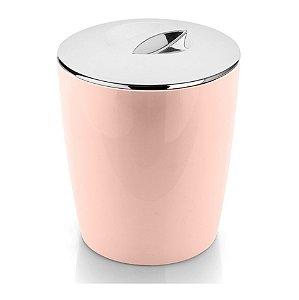 Lixeira 5 Litros Cromo Vitra Cesto De Lixo Banheiro Cozinha Lavabo - LX 550 Ou - Rosa Nude