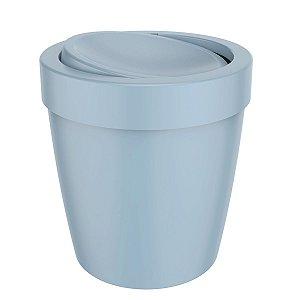 Lixeira 5 Litros Tampa Basculante Cesto De Lixo Banheiro Vitra - LX 655 Ou - Azul Glacial