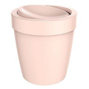 Lixeira 5 Litros Tampa Basculante Cesto De Lixo Banheiro Vitra - LX 655 Ou - Rosa Nude