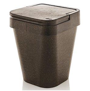 Lixeira Izzy 5 Litros Eco Cesto De Lixo Cozinha Banheiro - LX 820 Ou - Madeira