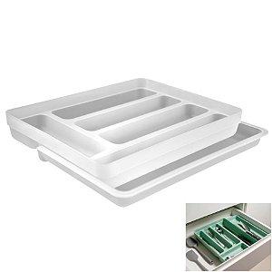 Organizador De Gaveta Divisor Porta Talheres Extensível Cozinha Logic - OL 650 Ou - Natural
