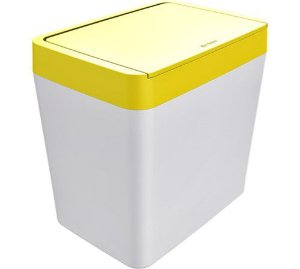 Lixeira 5 Litros De Bancada Cozinha Escritório Branca - Crippa - Amarelo