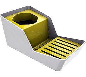 Organizador de Pia para Detergente e Esponja Branco - Crippa - Amarelo