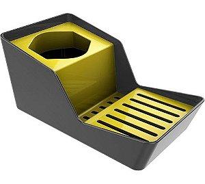 Organizador de Pia para Detergente e Esponja Chumbo - Crippa - Amarelo