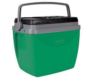 Caixa Térmica Cooler 18L Com Alça Porta Copos Bebidas Alimentos Vida - Mor - Verde
