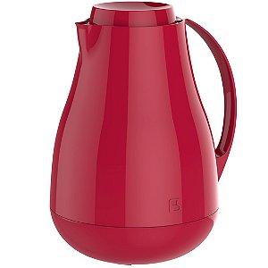 Bule Térmico Sonetto 1 Litro Para Café Leite Chá Água Ampola Vidro - Soprano - Vermelho