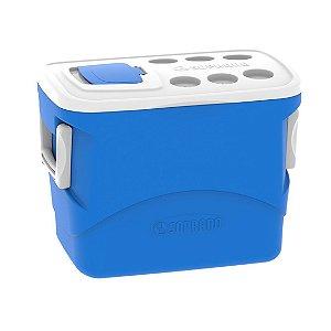 Caixa Térmica Cooler 50 Litros Tropical Bebidas e Alimentos - Soprano - Azul