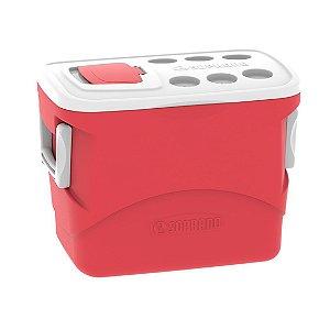 Caixa Térmica Cooler 50 Litros Tropical Bebidas e Alimentos - Soprano - Vermelho