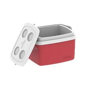 Caixa Térmica Cooler Tropical 12 Litros Bebidas e Alimentos- Soprano - Vermelho
