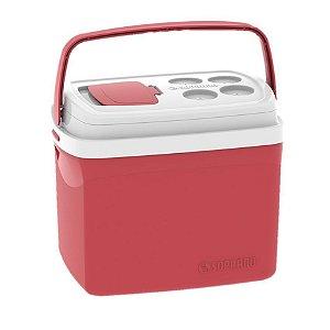 Caixa Térmica Cooler Tropical 32 Litros Bebidas e Alimentos - Soprano - Vermelho