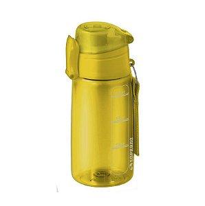 Garrafa Squeeze 550 ml com infusor Fitness Chá Água - Soprano - Amarelo