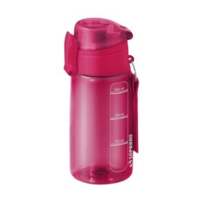 Garrafa Squeeze 550 ml com infusor Fitness Chá Água - Soprano - Fúcsia